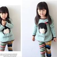 kaos panjang blouse anak perempuan HZ girl shining