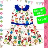 Baju anak perempuan dress Hello Kitty Peter Paul P