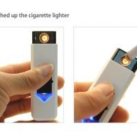 Korek Api Elektrik USB Rechargeable Electronic Cigarette Lighter