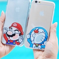 Casing HP Unik SILLY CARTOON FACE Mario Doraemon iphone 4/4s/5/5s/6/6s