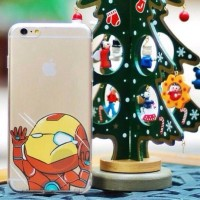 Casing HP Unik SILLY CARTOON FACE Iron Man iphone 4/4s/5/5s/6/6s