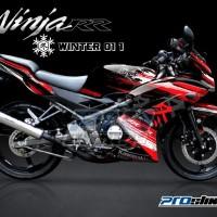 Jual Striping Modif Ninja 150 RR New Motif WINTER - PROSTIKER