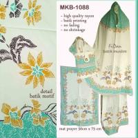 MKB-1088 Mukena Batik printing warna hijau tosca Rayon Adem