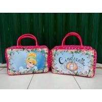 Travel Bag Kanvas Karakter Kartun Cinderella 1 (Free Ongkir)