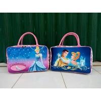 Travel Bag Kanvas Karakter Kartun Cinderella 3 (Free Ongkir)