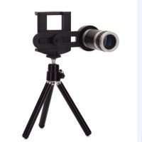Universal Lensa Tele Zoom 8x Clip Lipat +tripod untuk semua smartphone
