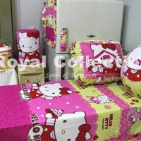 Kitchenset / Set Taplak meja makan / Homeset Hellokitty Sweety Pink