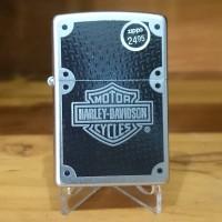 Zippo harley davidson Carbon fiber satin chrome 24025