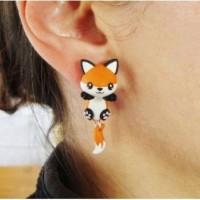 anting clay musang fox orange handmade