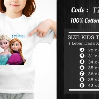 Kaos Anak Frozen / Frozen T-Shirt - FZ-016