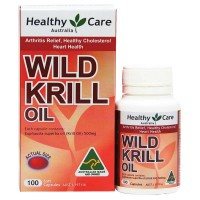Healthy Care Wild Krill Oil 500mg 100 Capsules