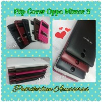 Flip Cover Dual View For Oppo Mirror 3 Case (casing Oppo Mirror 3)