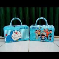 Travel Bag Kanvas Karakter Kartun Doraemon Stand By Me ( Free Ongkir )