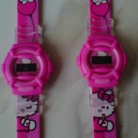 Jam Anak Casual And Cute Karakter Hello Kitty