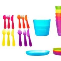 Ikea Kalas Party Set isi 6 Piring, Gelas atau Sendok