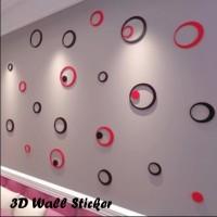 Jual 3D Wall Sticker Model Bulat (Hiasan dinding, bahan kayu ringan) Murah