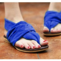harga Flat Shoes Biru Blue Sepatu Sandal Wanita Jepit Suede Beludru Murah Tokopedia.com