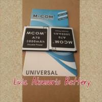 Promo !!! Baterai Hp Mito Type A70 3800 Mah Double Power Merk M Com