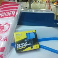 Paket Lengkap Filter Aquarium : Power Head , Box, Selang, Kapas