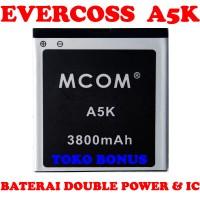 Baterai Evercoss A5k Double Power M Com