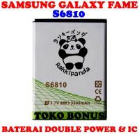 Baterai Samsung Galaxy Fame S6810 Double Power Rakki Panda