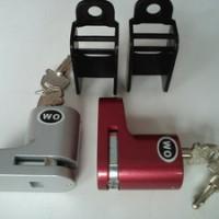 Kunci Disk Wo Gembok Anti Maling Disc Cakram Motor Bahan Baja Kuat