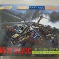 Mokit Helikopter militer tempur Mi 28 Havoc by Dragon 1:144