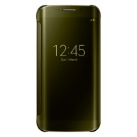 Samsung Official Clear View Flip Cover Samsung Galaxy S6 EDGE - GOLD