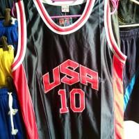 jersey basket USA hitam