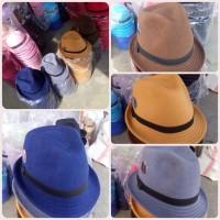 Topi fedora artis MUSISI | seniman TOMPI beludru JAZZ kualitas distro