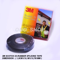3M Scotch 23-Rubber Splicing Tape ( Isolasi Listrik )
