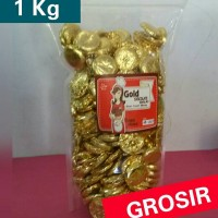 COKLAT DELFI KILOAN GOLD CHOCOLATE/COKLAT COIN 1KG