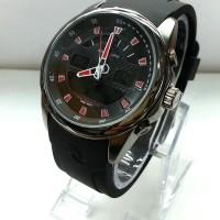 jam tangan ripcurl double time kw super rubber jarum red