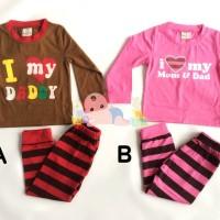 Piyama Anak - Baju Tidur Anak I Love Mom Dad