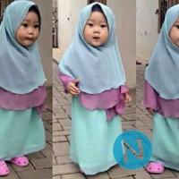 Maxi bergo rok hijab anak jersey 55181-humaira (biru muda) 4-6 thn