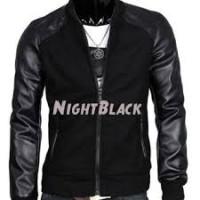 harga Jaket Dc Semi Kulit Combi Fleece Night Black Tokopedia.com