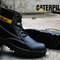 sepatu caterpillar licin safety boots black