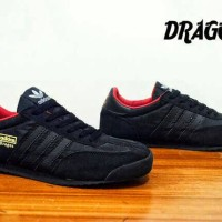 sepatu adidas dragon fullblack insole red