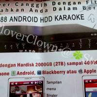 Smartphone Control DVD Karaoke K-POP K88 - USB HDMI Apple Android BB