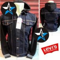 harga New! Jaket Gaul Cowok Combine Jeans + Fleece Part Vii Keren Black Tokopedia.com