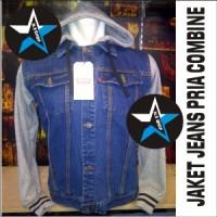 harga New! Jaket Gaul Cowok Combine Jeans + Fleece Part Viii Keren Grey Tokopedia.com
