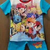 Stelan Kaos Anak Karakter Boboiboy Biru,7-10T