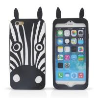 harga 3d Silicone Dog/zebra 4.7 Inch Iphone 6 Soft Case Tokopedia.com