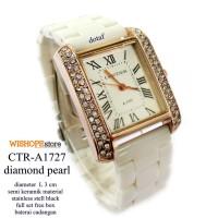 harga JAM TANGAN CARTIER DIAMOND A - 1727 SEMI KERAMIK PUTIH FULL SET Tokopedia.com