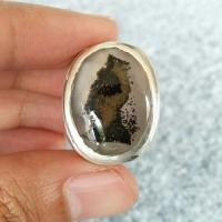 Natural Batu Motif Pinguin (AG897) Memo SKY Lab