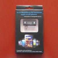 Mini Car FM Transmitters 3.5mm Jack Plug Handsfree
