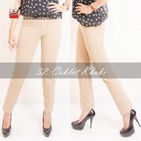 Celana Zettha ukuran S, M, L, XL Katun Coklat Khaky