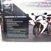 Alarm Motor Vynix + REmot + Batre Pengaman Anti Maling Pencurian Motor