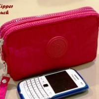 Multi Zipper Hp Pouch ROSEPINK (3 Sekat, muat 3 hp hingga uk 6 inch)