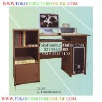 Meja Komputer D115, Meja dengan Rak Buku